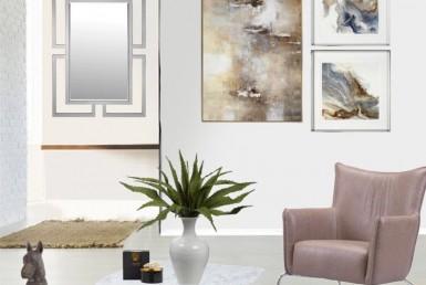 sala con estilo nórdico minimalista